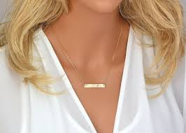 Gold Name Bar Necklace The 25 Best Name Necklace Ideas On Pinterest Personalized