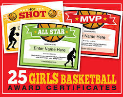25 basketball certificate templates kid certificates child