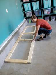 how to build base cabinets out of plywood how to build oversized garage storage cabinets hgtv