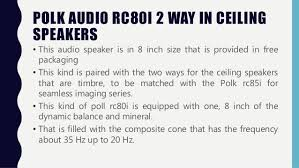 Polk Audio Rc80i 2 Way In Ceiling Speakers by Polk Rc80i Vs Polk Rc85i Review