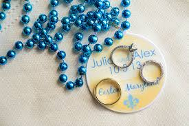 personalized mardi gras personalized mardi gras bead wedding favors shameless self
