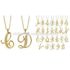 gold letter pendant necklace necklaces u0026 pendants