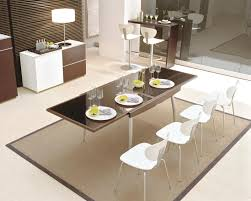 square extendable dining room table modern square dining table for
