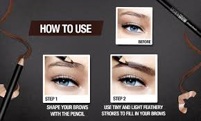 How To Pencil In Eyebrows Maybelline Fashion Brow Cream Pencil Brown Lazada Ph
