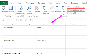 Home Design Show Excel How To Show Or Hide All Comments And Comment Indicators In Excel