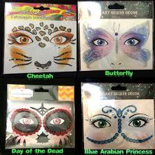 glitter temporary tattoos costume instant makeup eye