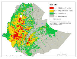 Map Of Ethiopia Awareness On Lime Application Can Boost Crop Production