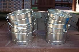 furniture appealing galvanized buckets for garden tools