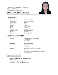 simple job resume template free resume format simple indian template for freshers job pdf india