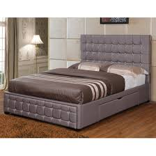 unique cal king size panel bed modern upholstered platform bed