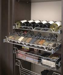steamboat springs kitchen pantry organization storage copy of satin nickel slide out wine spice baskets sl