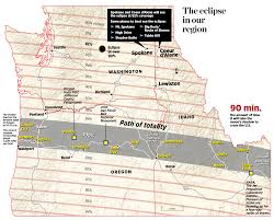 Eastern Oregon Map by Total Solar Eclipse On Aug 21 Is A Sight Not Seen In This Region