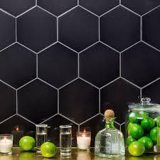 exagoni puro grafito brillo ceramic wall tile tilebar com