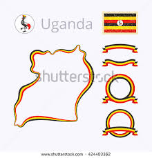 outline map germany border marked ribbon stock vector 154037435