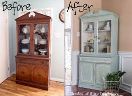 china cabinet makeover shades of blue interiors