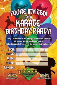 cards u0026 flyers birthday martial arts marketing
