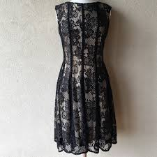dress barn vintage style fitted black lace dress from lori u0027s