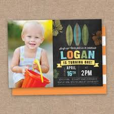 surfer boy birthday thank you card photo hawaii beach invitation