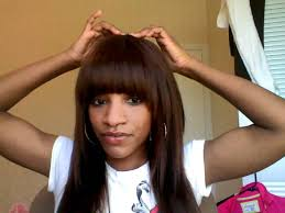 sew in weaves with bangs sew in weave with bangs youtube