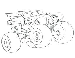 wheels coloring pages monster truck print pictures printable