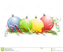 ornaments ribbon pine needles stock illustration image