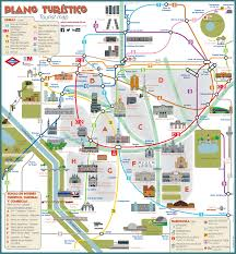 Amsterdam Metro Map by Map Of Madrid Tourist Attractions Sightseeing U0026 Tourist Tour