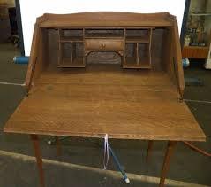 antique drop front desk antique oak drop front desk