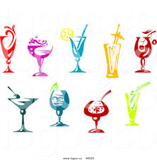 cocktail vector royalty free clip art vector logos of colorful cocktails by vector