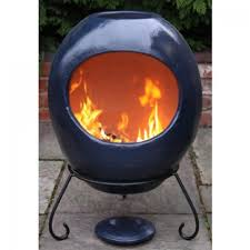 Red Clay Chiminea Buy Gardeco Ellipse Extra Large Mexican Clay Chiminea Blue