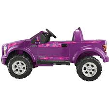 purple camo jeep power wheels girls u0027 ford f 150 12 volt battery powered ride on