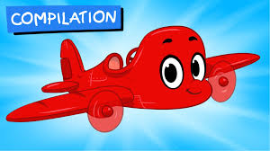 my red airplane 1 hour morphle mega vehicle compilation for
