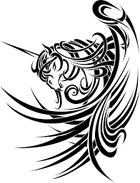 tribal stag tattoo tribal unicorn by saki blackwing on deviantart unicorn