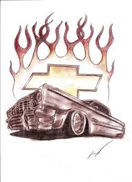 chevrolet impala tattoo by lowridergirl on deviantart tattoomagz