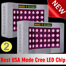 usa made led grow lights 2pcs mars pro ii cree 128 led grow lights hydro full spectrum plant