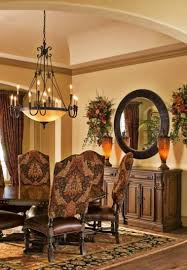 Tuscan Style Chandelier Tuscan Style Dining Room With Traditional Chandelier And