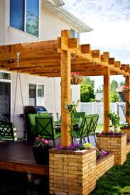 Wood Pergola Plans by Best 25 Pergola Attached To House Ideas Only On Pinterest