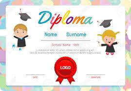 preschool certificates preschool elementary school kids diploma certificate background