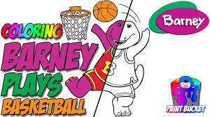 barney plays coloring pages barney friends coloring book