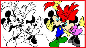mickey mouse coloring pages disney colouring book colors videos