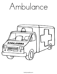 ambulance coloring page twisty noodle