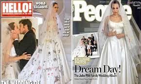 wedding dress brokat in versace wedding dress with brad pitt in