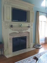 awesome tv above wood burning fireplace home design awesome