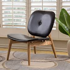 Black Leather Accent Chair Dot U0026 Bo