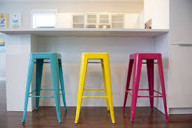 kitchen bar stools modern turquoise stools red white purple seat yellow table colorful