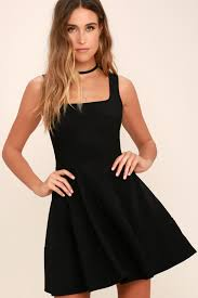 black dress pretty black dress skater dress lbd 42 00