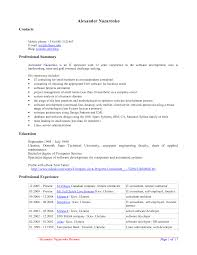 Resume Samples With Summary by Resume Examples Interesting 10 Best Open Office Resume Template