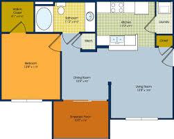 one bedroom floor plan one bedroom apartments near bluffton sc aqua floorplan