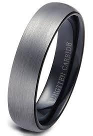 black wedding rings for him 6mm tungsten rings wedding engagement band brushed black