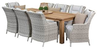 Teak Outdoor Dining Sets Bianco  Seater Recycled Teak Table - Recycled outdoor furniture