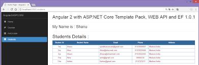asp net core angular 2 ef 1 0 1 web api using template pack in c